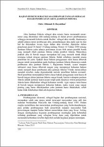 Kajian Hukum Surat Kuasa Dibawah Tangan Sebagai Dasar